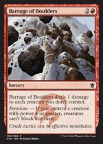 Barrage of Boulders 1