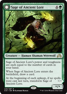 Sage of Ancient Lore - Werewolf of Ancient Hunger (FOIL) 1